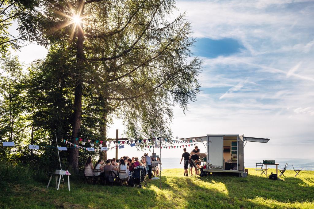 Event von Extreme Dining auf dem Bergli, Menzingen.